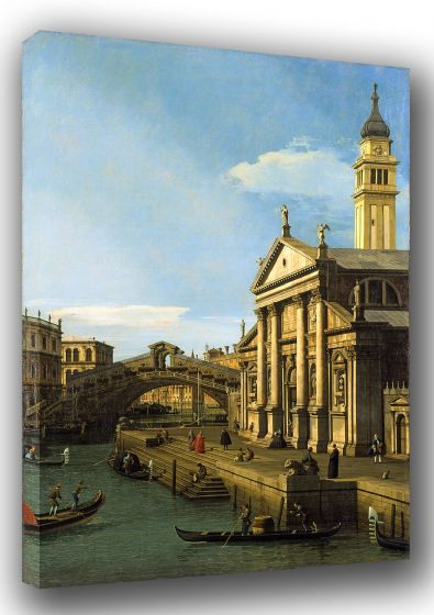 Canaletto: The Rialto Bridge and The Church of S. Giorgio Maggiore. Fine Art Canvas. Sizes: A3/A2/A1 (003330)